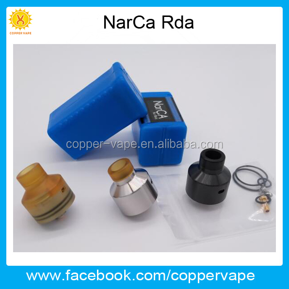 Coppervape Newest 316SS Narca Rda great flavor black silver Ultem narca rda with BF pin stock Now!!