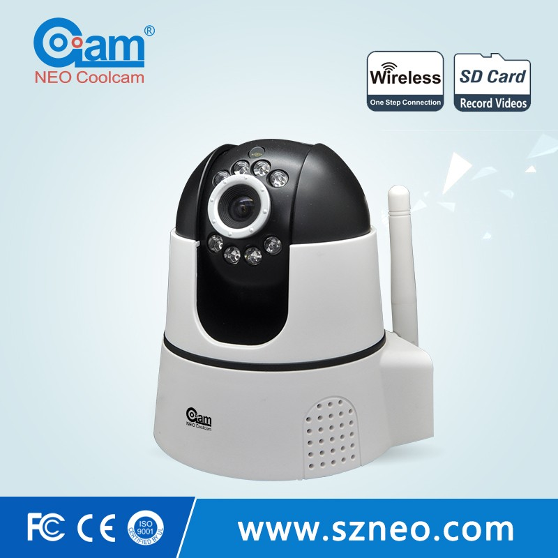 360 degree rotation wireless 720p ip camera with RJ45 WPS alarm push cmos sensor baby video monitor