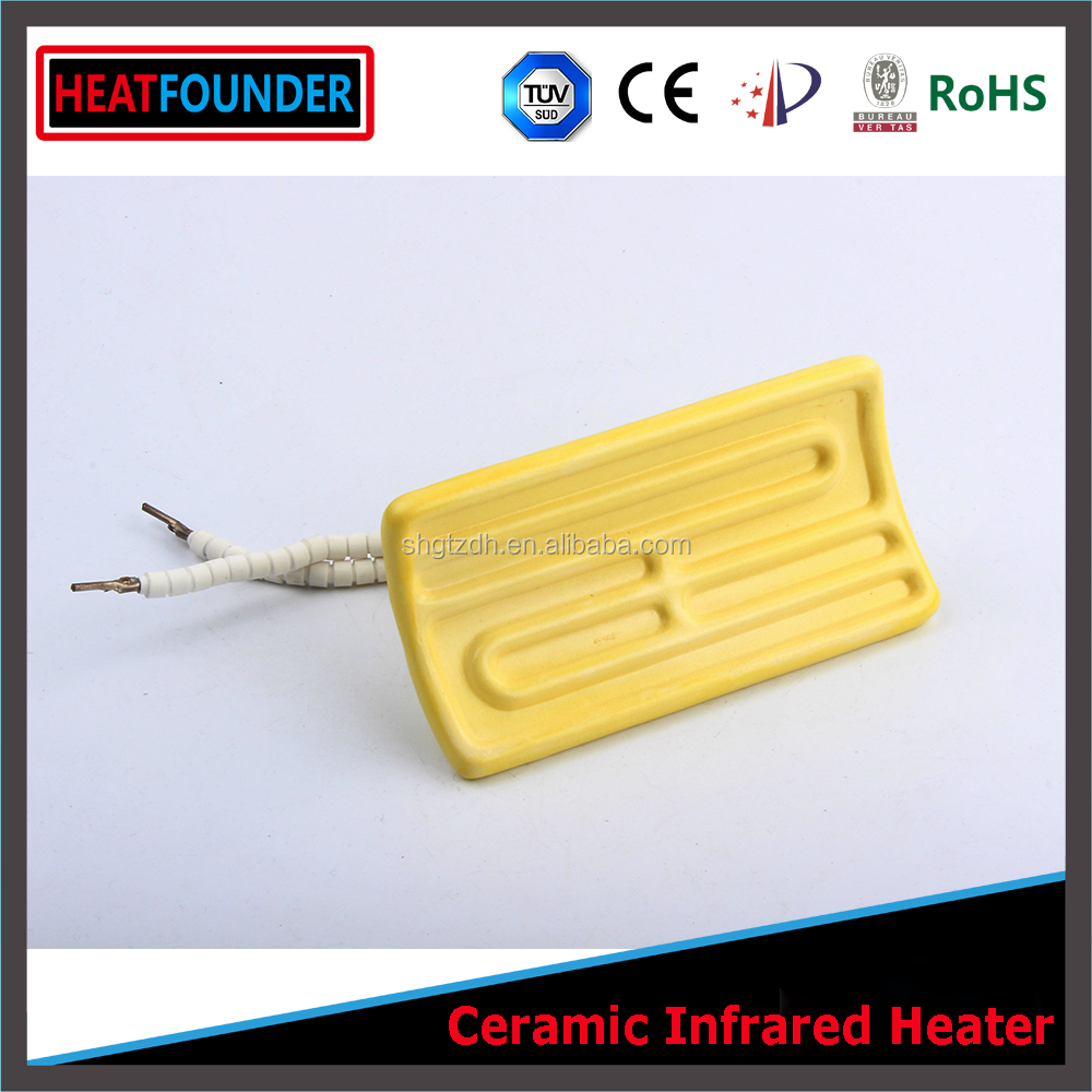 Customized high quality high temperature <strong>resistant</strong> long working life square and rectangular ceramic heating plate