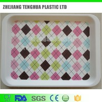 China manufacture cheap plastic plate rectangular food serving trays