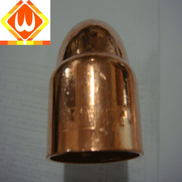 Compression fitting bright copper cap For pipe ID76.1mm