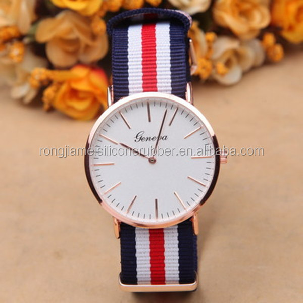 Classic nylon strap colorful western wrist watches for men