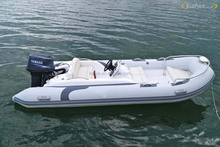 Liya 4.3m luxury rigid hypalon inflatable boat with outboard motor