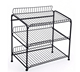 3 layer free stand metal wire tabloid newspaper rack