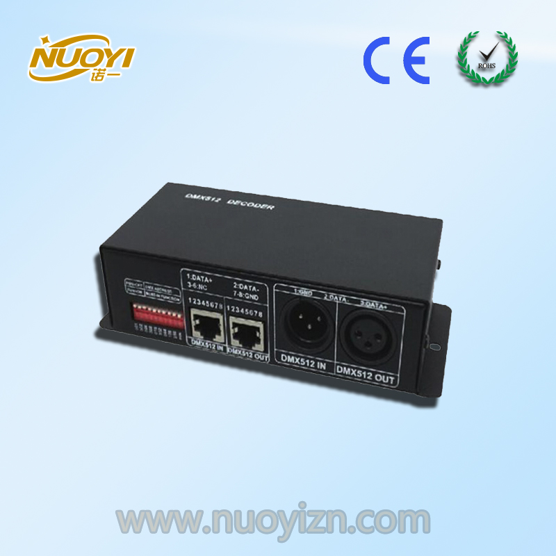 3Channels 512DMX Decoder with 4A each channel