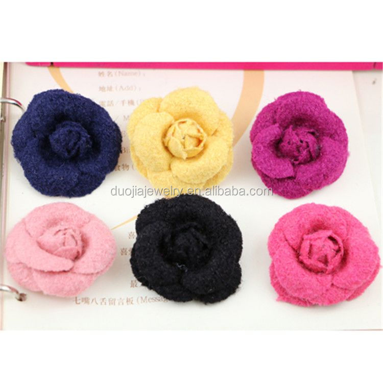 New product superior quality chiffon fabric flower for shoes with good offer
