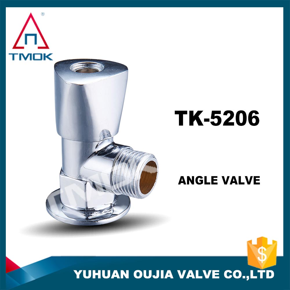 TMOK Top brass 2 ways angle stop valve full port with forged motorize plating cock valve lockable