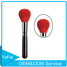 Hot sale red goat hair oval makeup brush oem odm professional makeup brushes