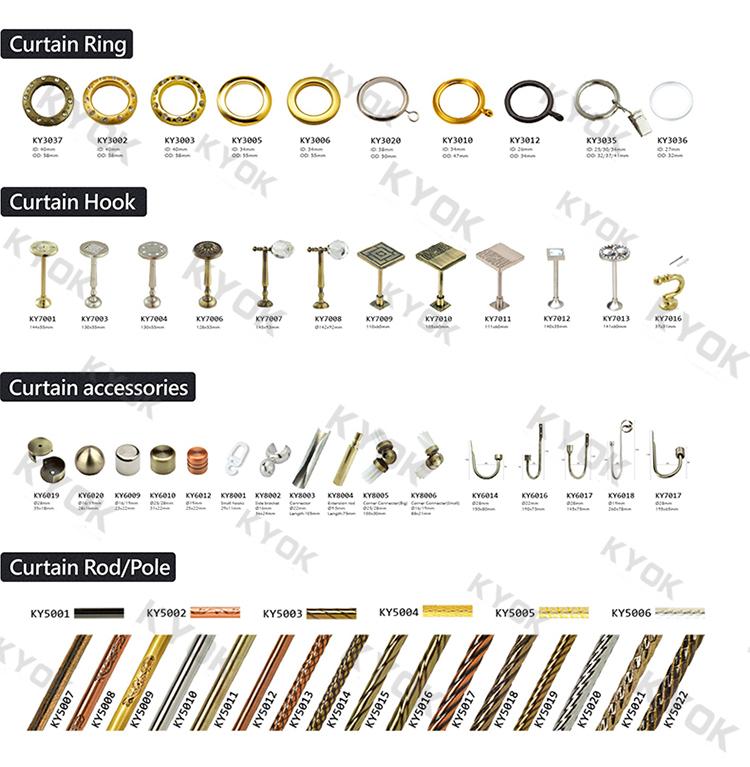 Wholesale High Quality Glass Curtain Rod Finials Chroming 1 Inch Metal Curtain Pole Art Crystal