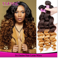 Hot selling products peruvian hair sew in human hair weave ombre hair extensions