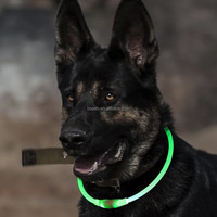 2017 innovative products led USB rechargeable flashing luminous dog collars