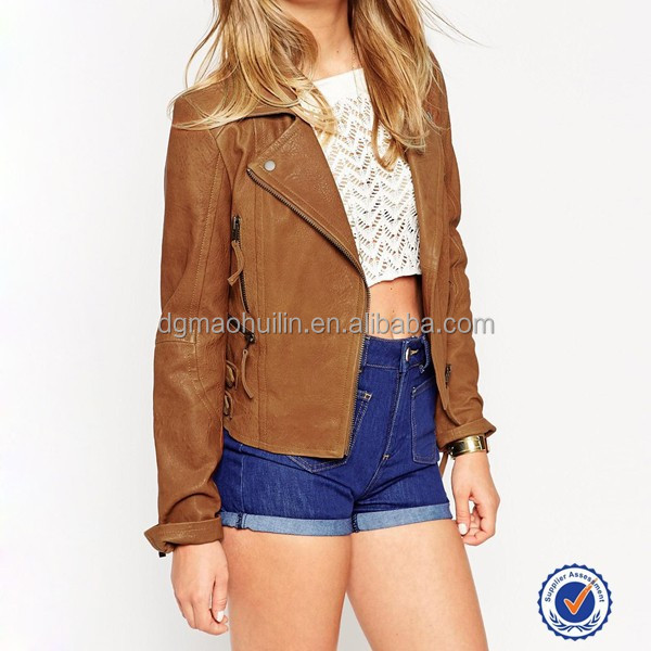 leather biker jacket clothing manufacturers wholesale women clothing bomber jacket