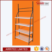 vegetable fruit bread bakery display rack metal material retail store fixture Metal Basket Flooring Display Shelf
