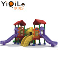 Commercial children outdoor playground outdoor exercise equipment plastic combined slide for sale