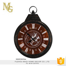 Good for gift battery operated classic metal retro wall clock