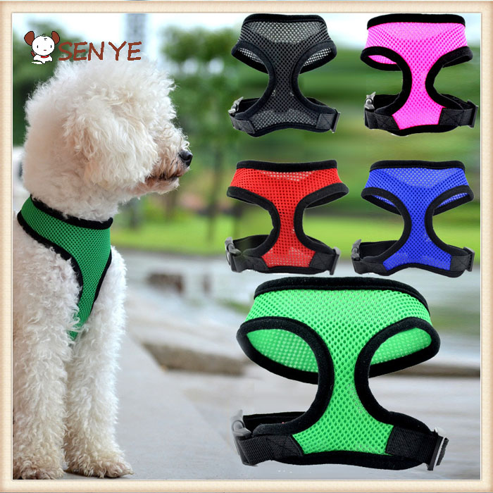 New Fashion Nylon Pet Mesh dog Harness Strap Vest Collar For Small Medium-sized Dog leads Puppy dog harness