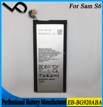 2550mAh Long lasting mobile phone batteries for Samsung Galaxy S6 EB-BG920ABA battery