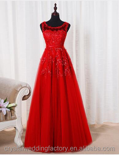 2017 Red Sheer Back Pearls Formal Evening Party Dresses Cheap Lace Embroidery Long Prom Dresses MP2544