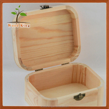 The New Ideas Rounded Corners Wooden Gift Boxes Custom Logo Wooden Jewelry Box Plain