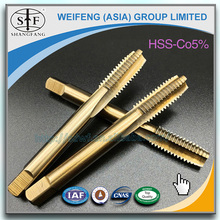 coating straight flute screw thread cutting tools carbide HSS Co5% machine thread taps