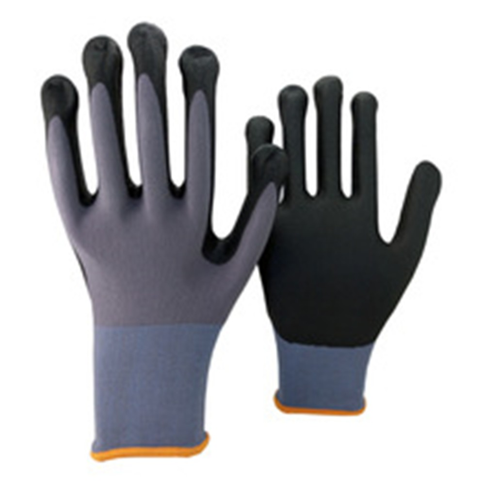Brand MHR 13G polyseter liner, Nitrile Palm Coated Glove, Smooth Surface