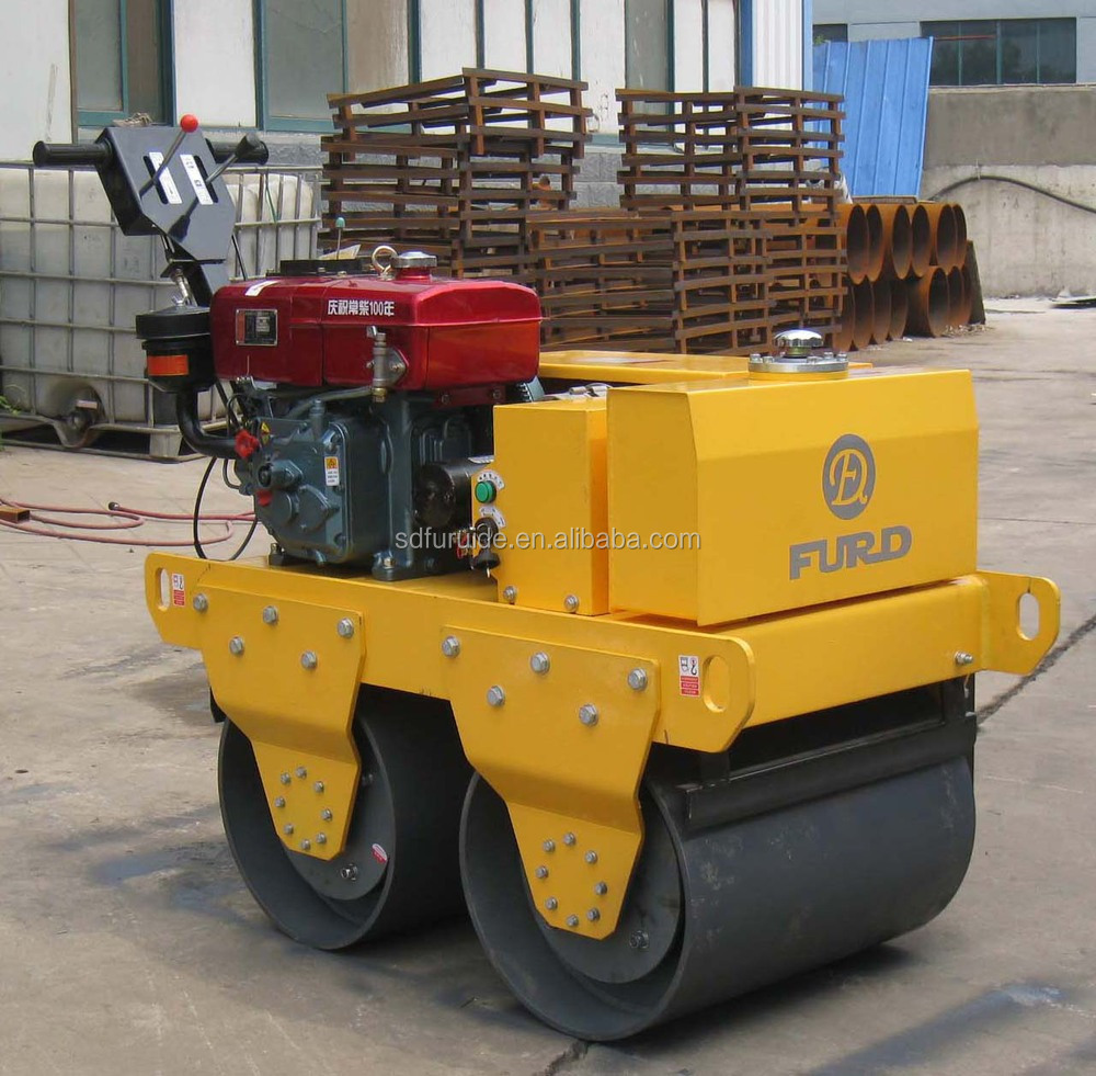 Double Drum Mini Pedestrian Roller for Sale (FYL-S600CS)