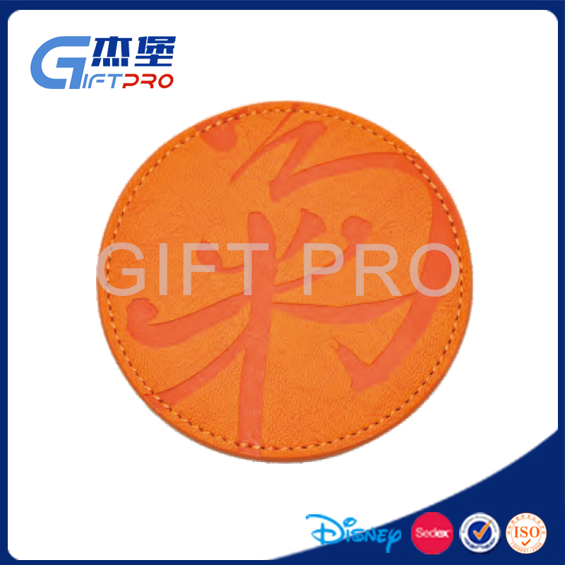 New Design Customized Leather/drinks coaster with different colors