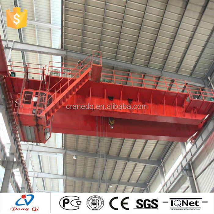 Workshop 25 tons hoist machine double girder overhead cranes with bus bar system price