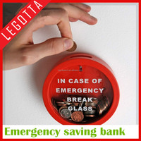 Plastic round shape money box saving bank coin bank for promotion