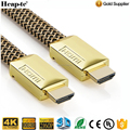 4K Ultra HD High Speed Flat HDMI Cable - Gold Plated Connector Multi shielded Supports 3D TV, Full 1080p / 2160p 4K, and ARC