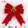 fashion velvet ribbon bow for christmas decorations