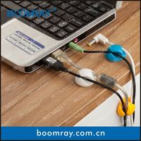 boomray factory 2014 promotional TPR colorful multipurpose cable management music related gifts