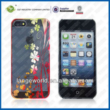 New design chrome flower pc case for iphone 5