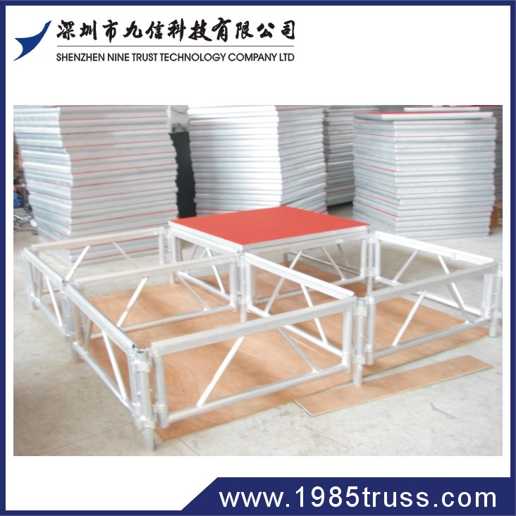 folding aluminum portable stage for stage system