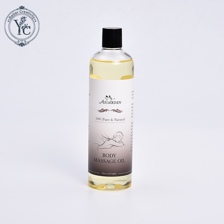 100% Pure repair soothing massage oil vanilla body massage oil organic olive oil