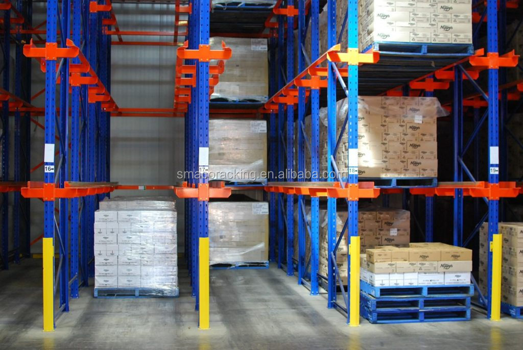 Warehouse storage metal rack system