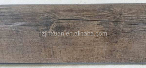 JXWN011 Wood grain PVC floor (vinyl floor) with clicks & small quantity available wood looking pvc floor in stock for pormotion