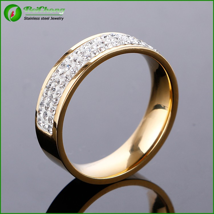 fashion jewelry 2015 gold plated jewelry ring 18 k with