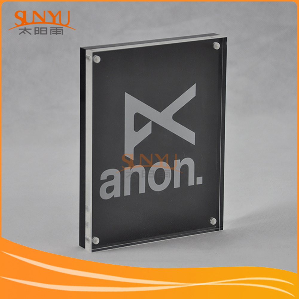 Factory Wholesale Acrylic Advertising Block Sign With Magnets
