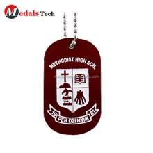 Factory Price different spray painted color filled logo custom human dog tags