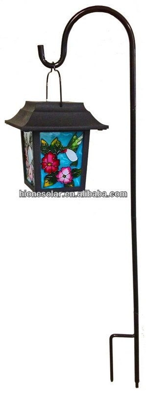 Smart solar hummingbird stake lantern light