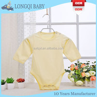 made in china cotton long sleeves baby grows romper