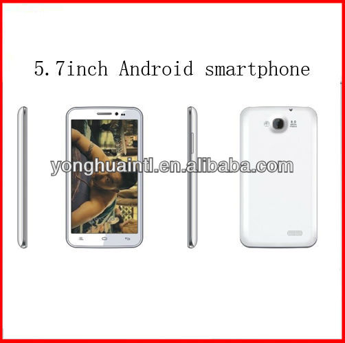 5.7 inch MTK6589 quad core GSM CDMA android mobile phone