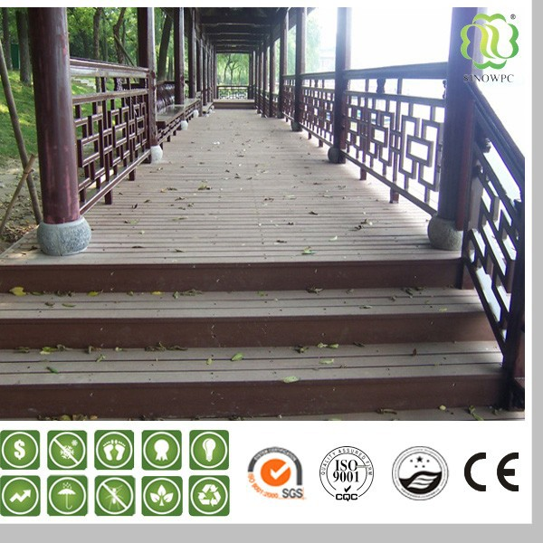 WPC Composite Outdoor Hollow/Solid Decking For Garden,Cheap Price, Black Color