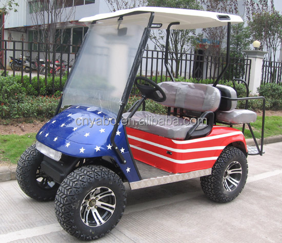 Off road cart 4 seats 4KW 48V 145Ah battery powered electric golf cart tourist passenger cars