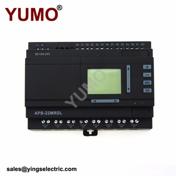 YUMO APB-22MRDL DC12V-24V 14 points digital input 8 points relay output PLC supplier elevator control plc