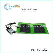 Canton Fair Newest flexible outdoor solar charger portable foldable panel OS-OP052B USB directly charge mobile phone