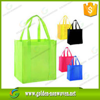 Non-woven Shopping Eco Bags/recycled yellow non-woven bag environmental protection/tnt nonwoven grocery bag