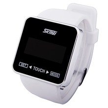 promotion gifts touch screen silicone wristband watch,smart noctilucent LED display