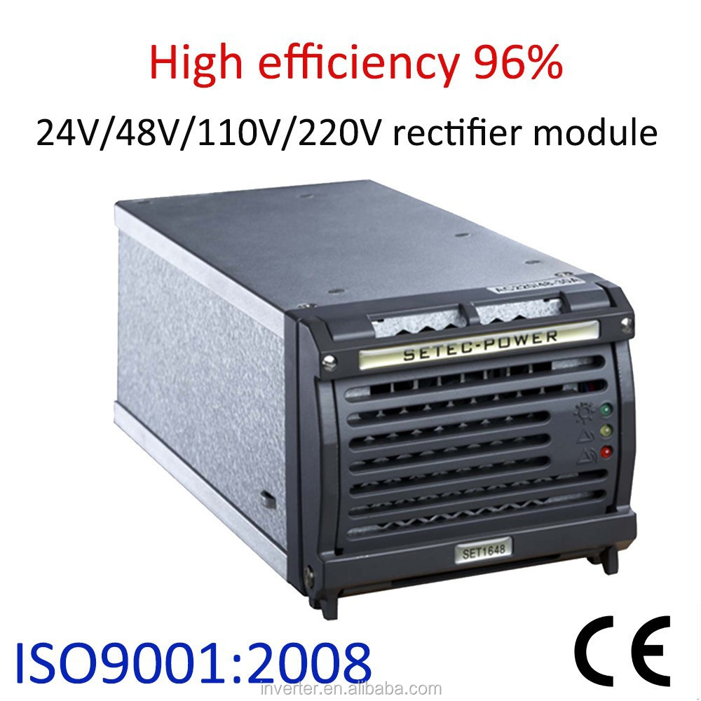 48V/24V Telecom DC Power Supply Rectifier Cabinet with Monitor Controll Module, Hot-Plug, N +1 Redundant